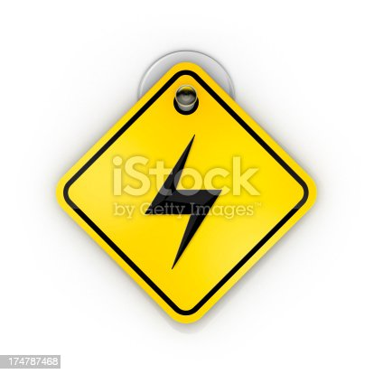 istock Spark Or Bolt Sticky warning 174787468