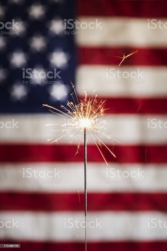 sparker and american flag vertical stock photo istock
