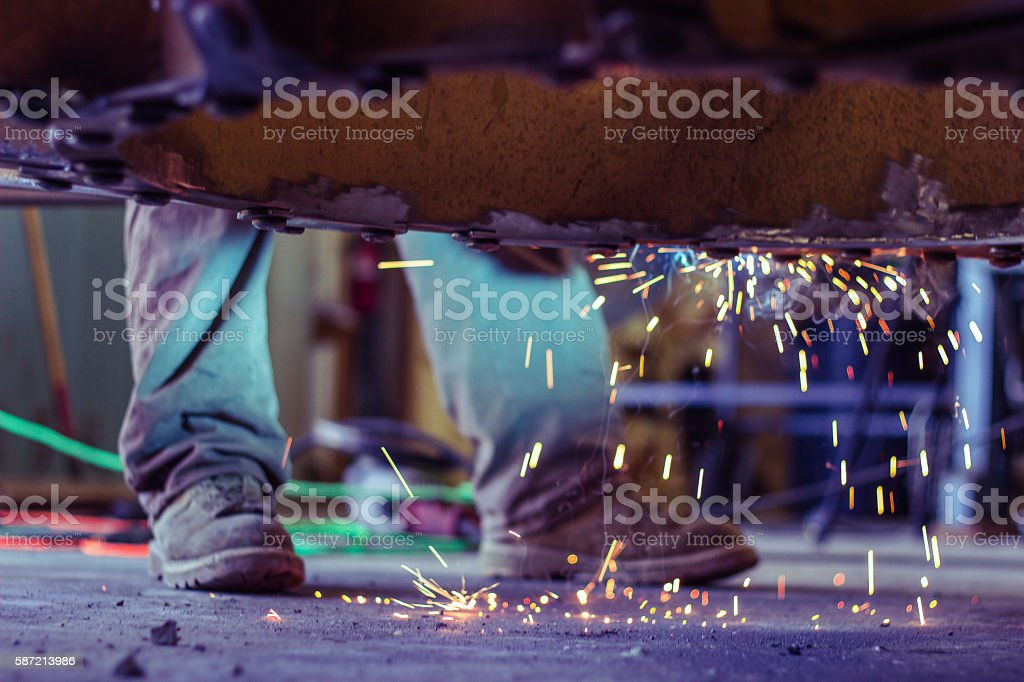 Sparking Reaction stock photo