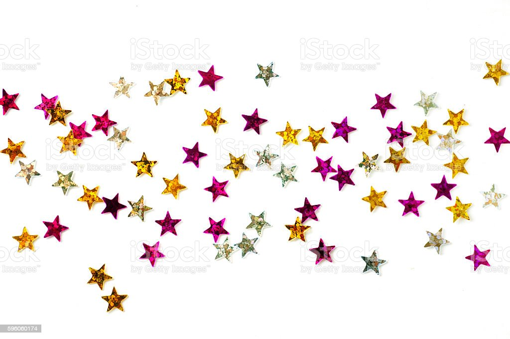 sparkle confetti stars on a white background
