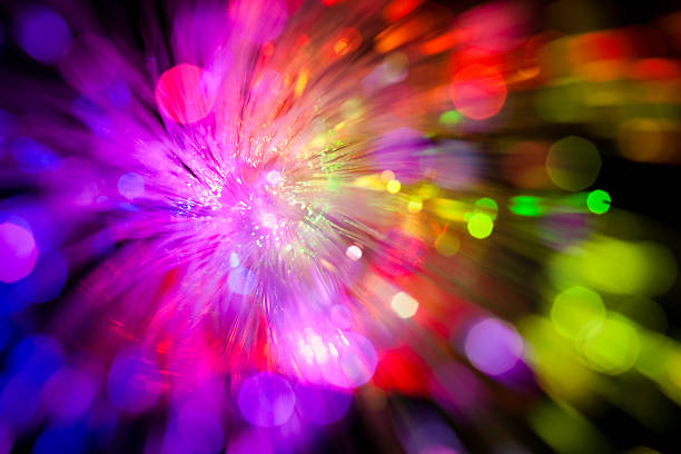 Sparkle of defocused lights. Abstract background stock photo