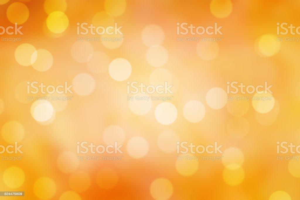 sparkle orange  bokeh background stock photo