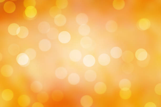 sparkle orange  bokeh background stock photo