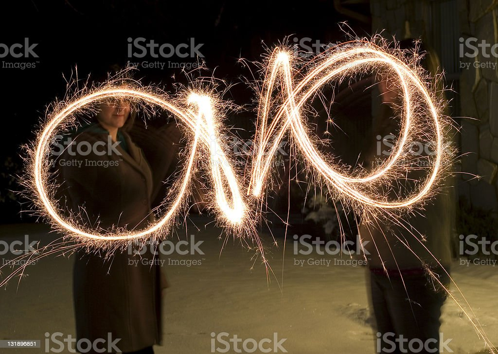 Sparkler Celebration stock photo