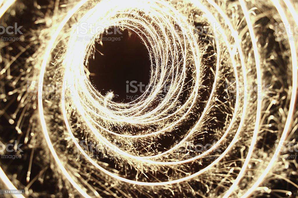 Sparkler circles royalty-free stock photo