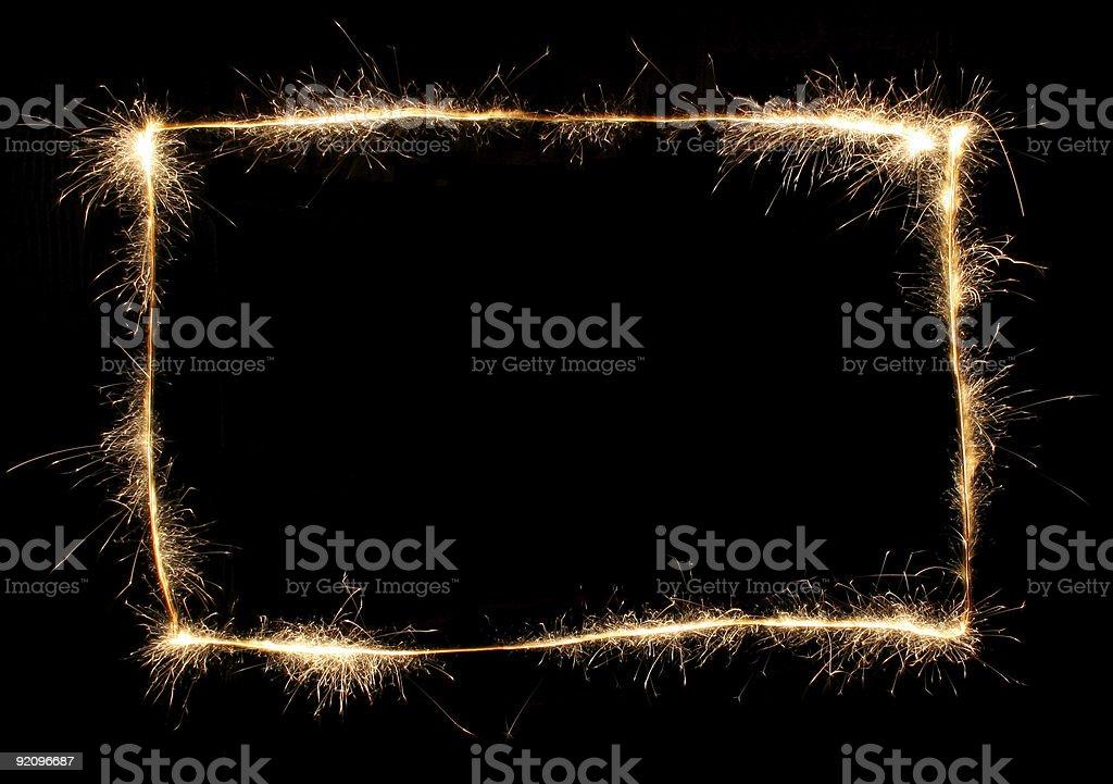 sparkler frame royalty-free stock photo