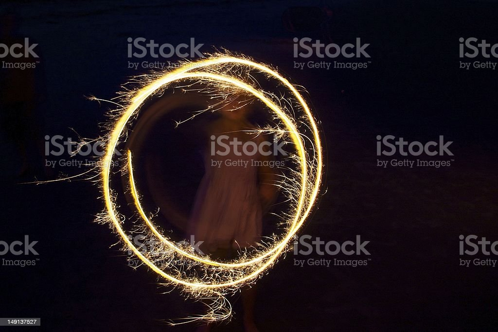 Sparkler Girl stock photo