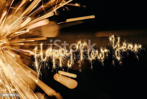istock Sparkler Happy New Year 869798414