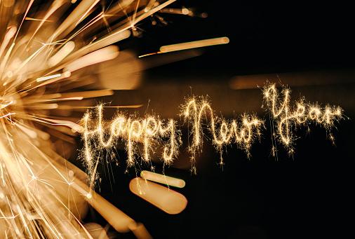 Sparkler Happy New Year