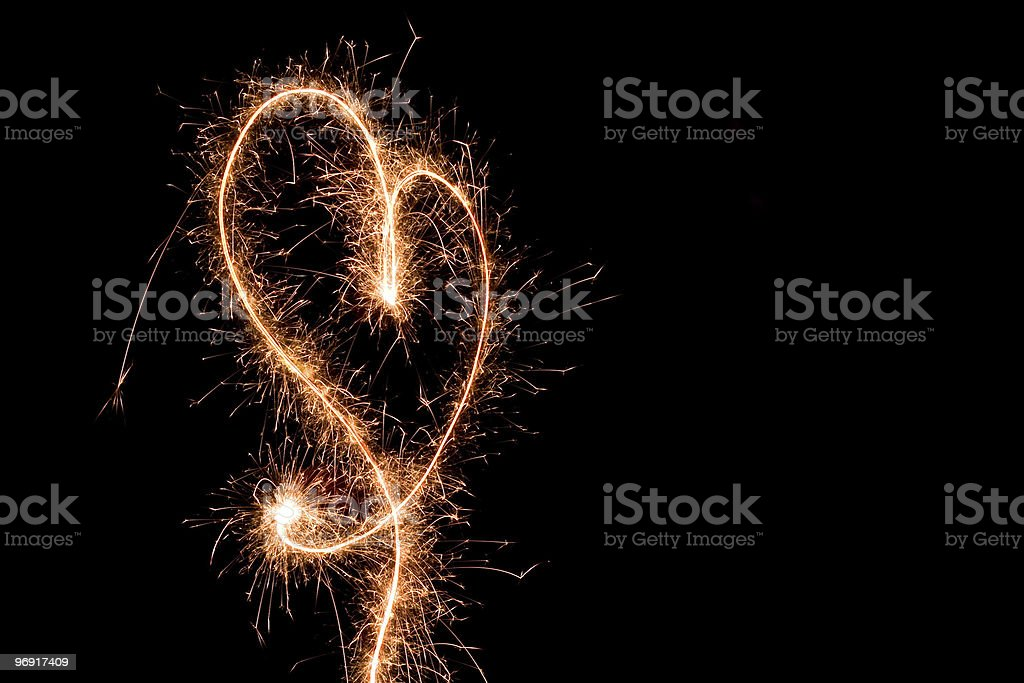Sparkler Heart royalty-free stock photo
