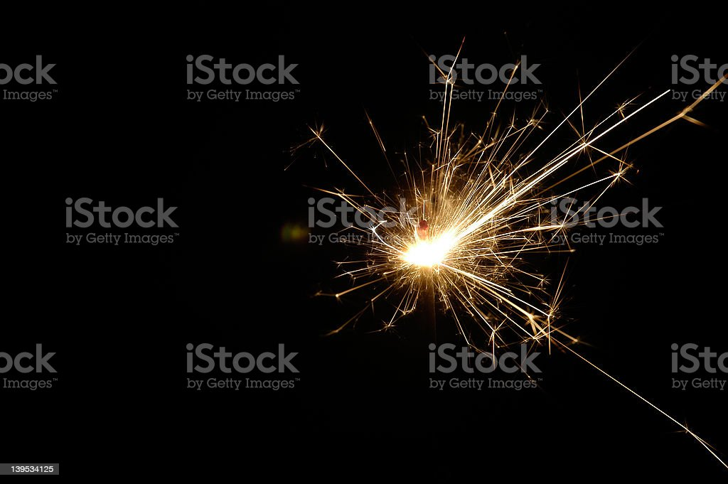 sparkler II royalty-free stock photo