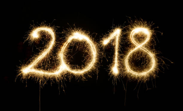 sparkler new year 2018 - 2015 stock pictures, royalty-free photos & images