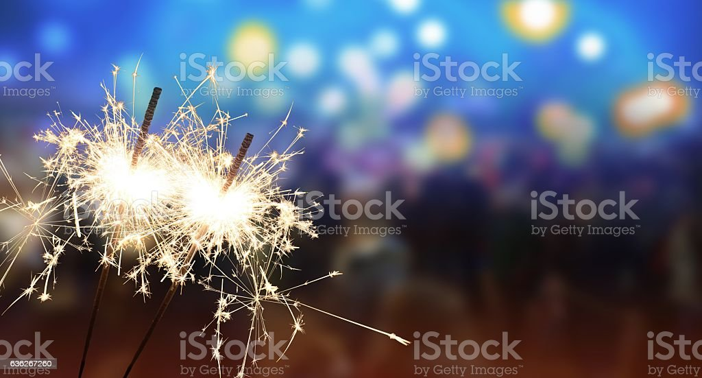 sparkler - New Year / New Year's Eve / celebration stock photo