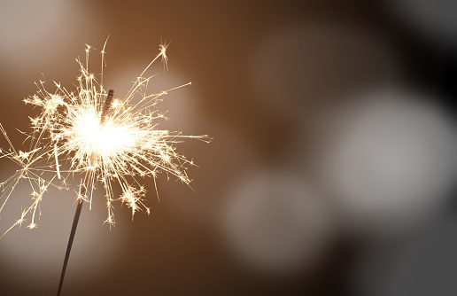Sparkler New Years Eve Stock Photo - Download Image Now