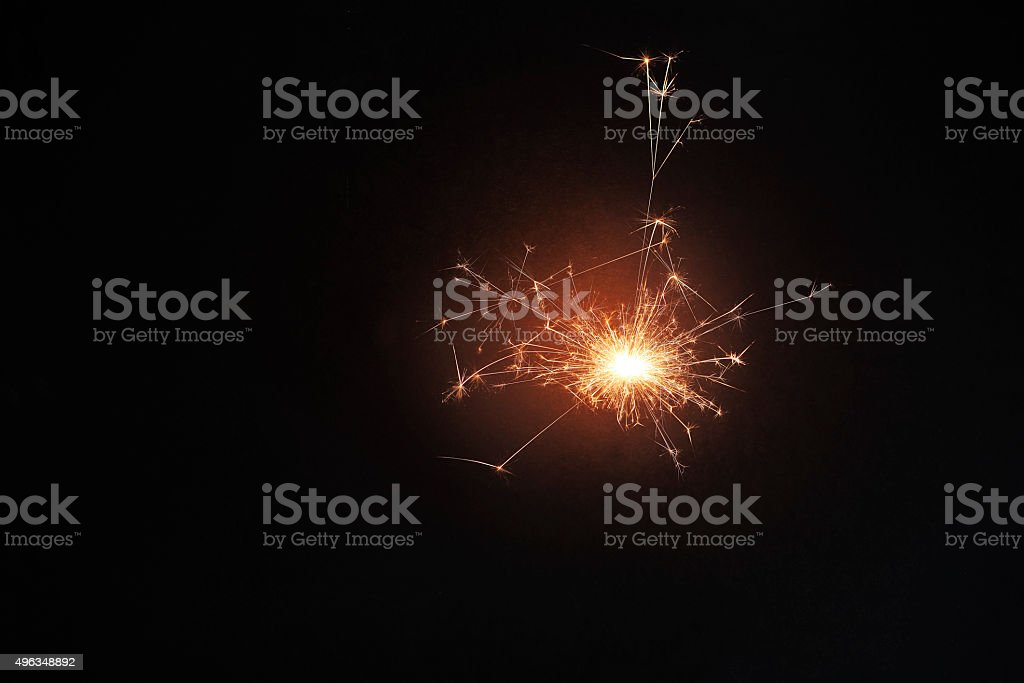 Sparkler /sparkle stock photo