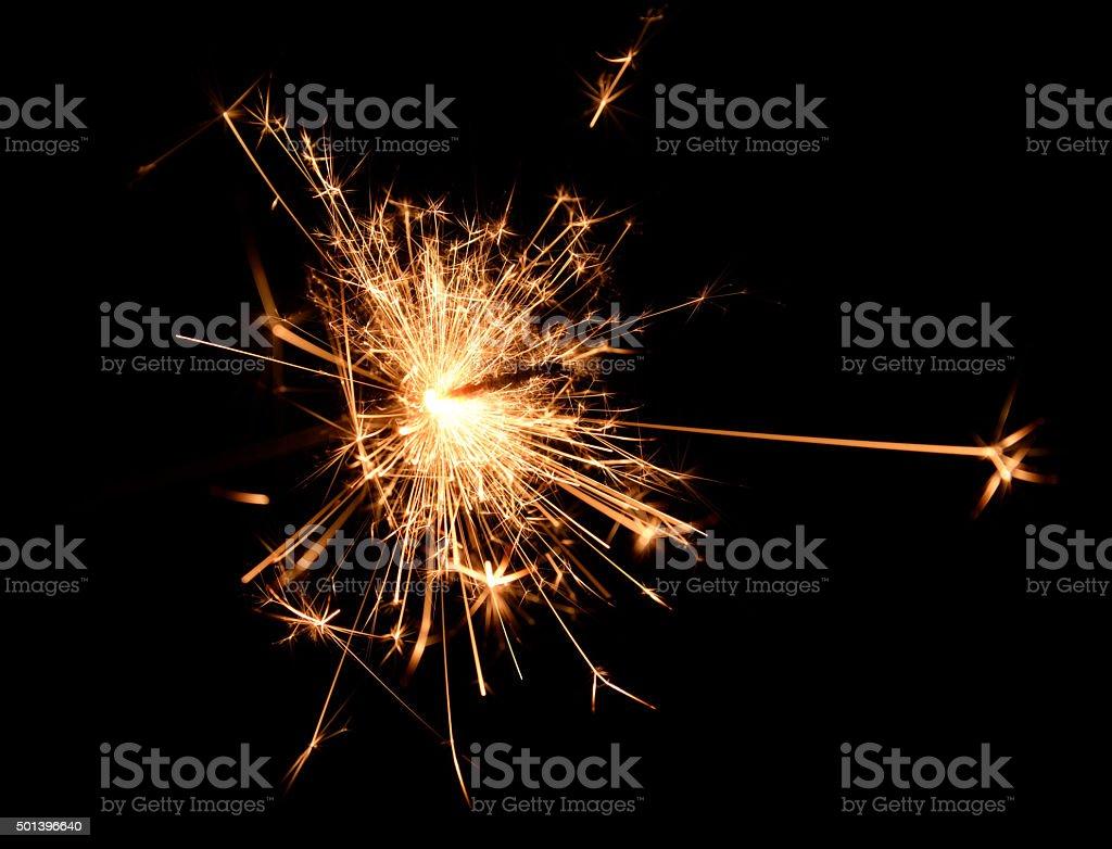 Sparkler Sparks stock photo