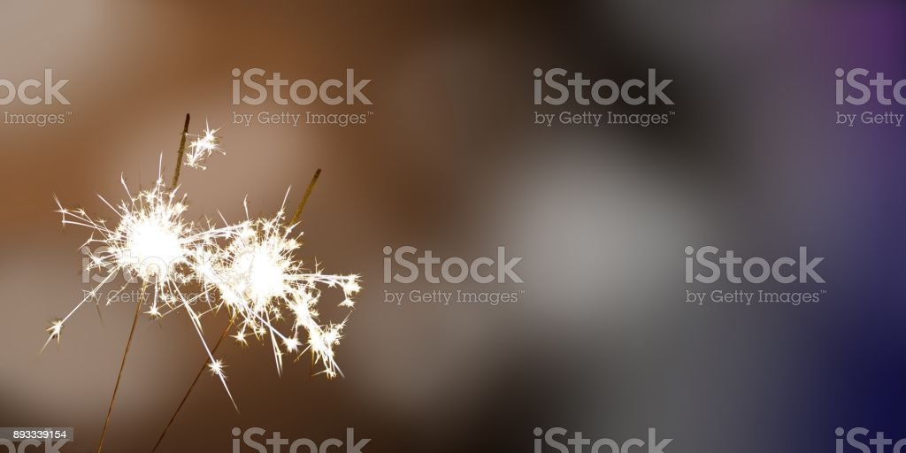 sparklers - New Year / New Year's Eve / celebration stock photo