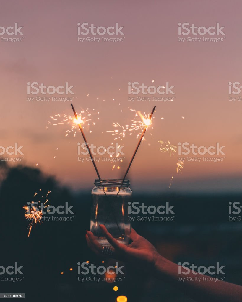 Sparklers stock photo