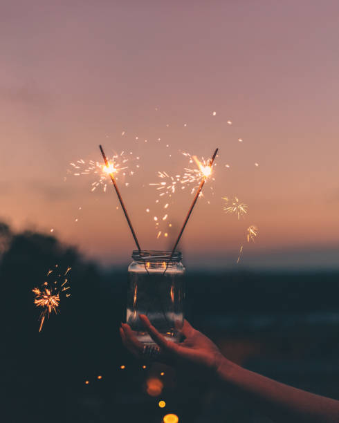 Sparklers stock photo