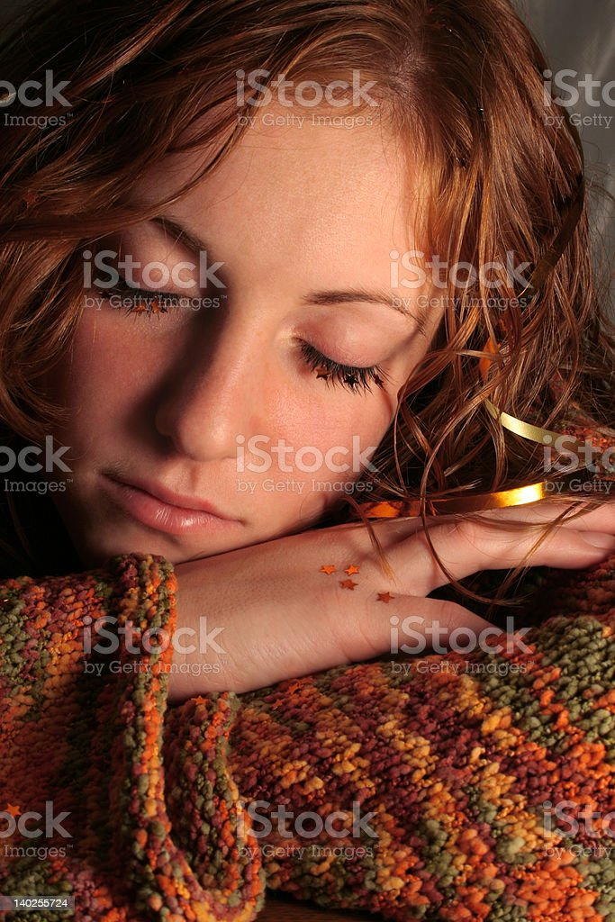sparkles on eyelashes royalty-free stock photo
