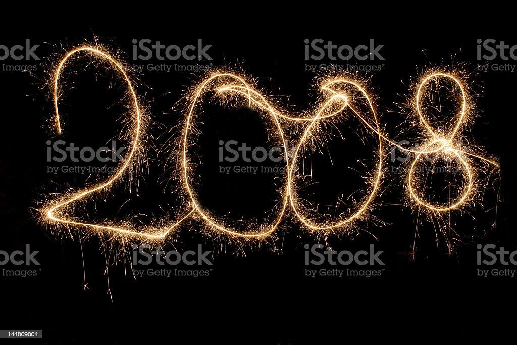 sparkling 2008 stock photo