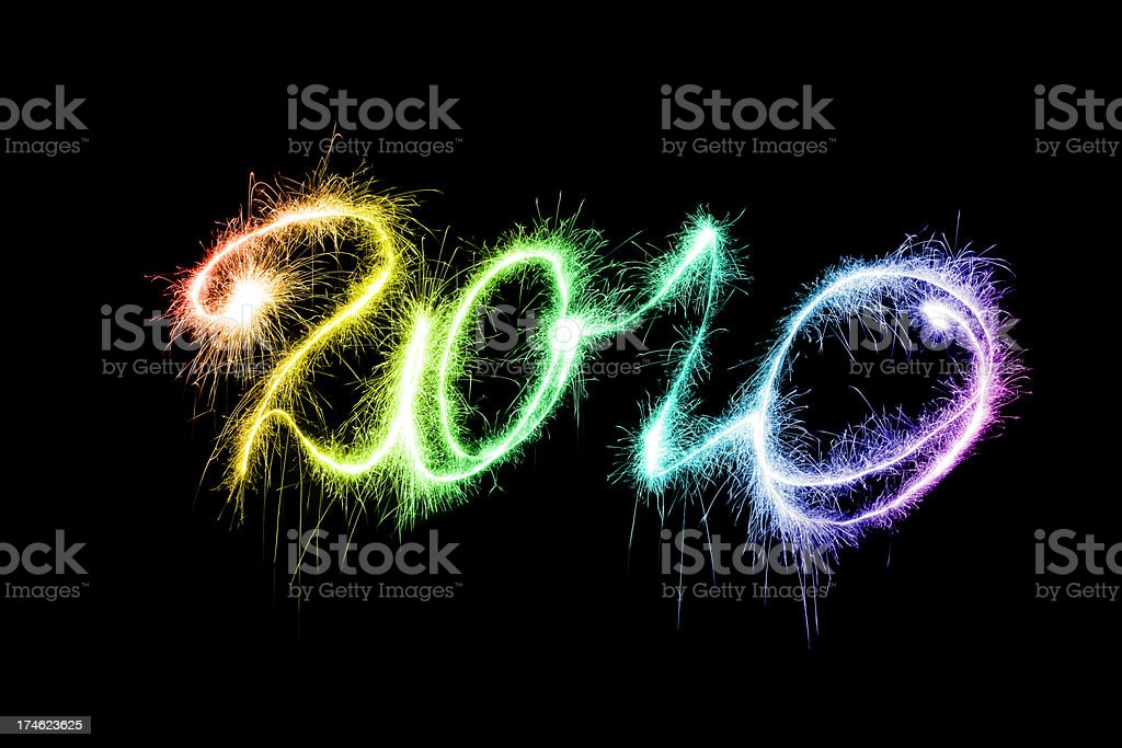 Sparkling 2010 (XXL) royalty-free stock photo