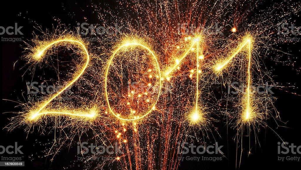 Sparkling 2011 royalty-free stock photo