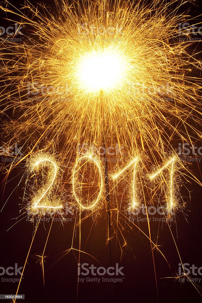 Sparkling 2011 royalty-free stock photo