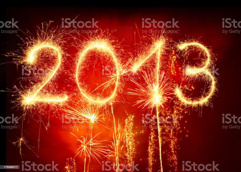 Sparkling 2013 royalty-free stock photo