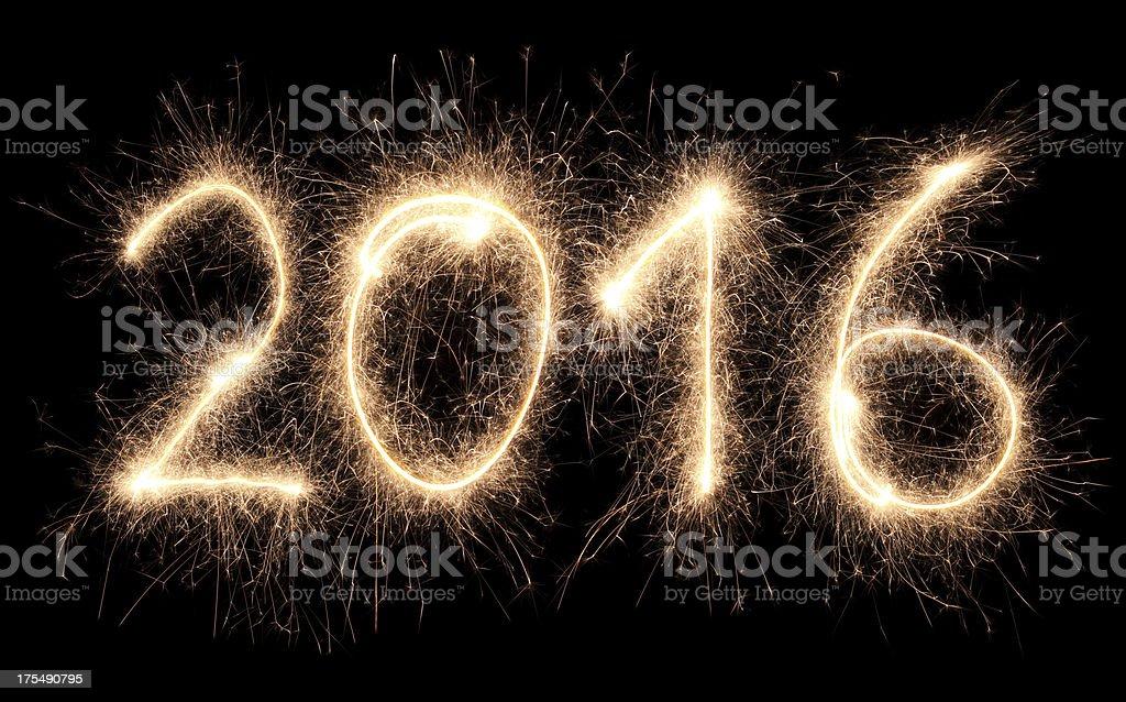 Sparkling 2016 stock photo