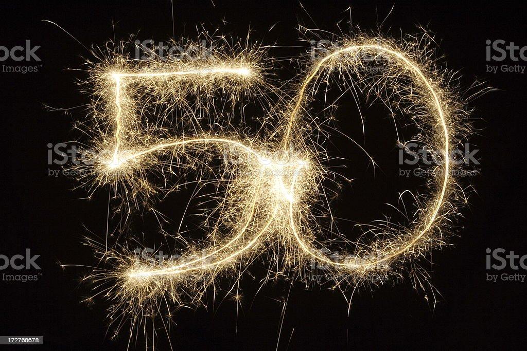 Sparkling 50 stock photo