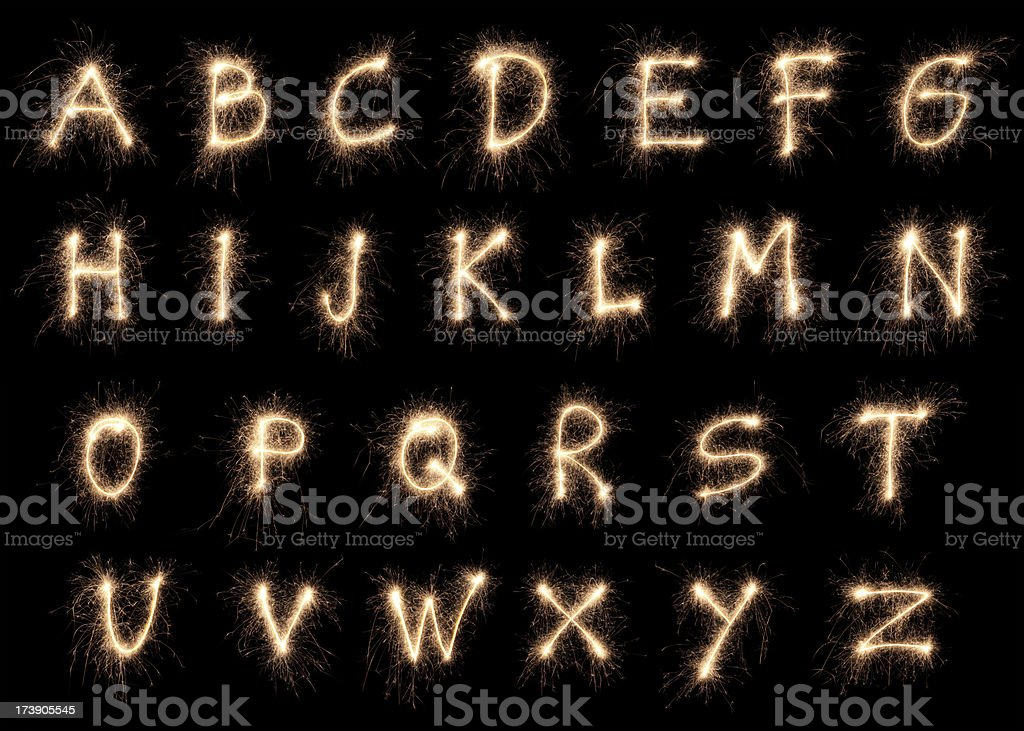 Sparkling Alphabet XXXL stock photo