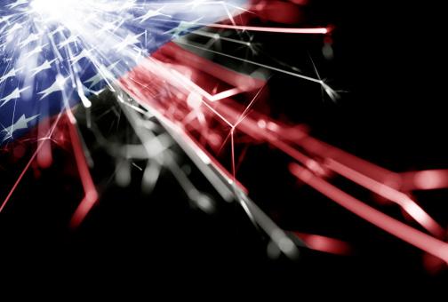 182764873 istock photo Sparkling American Flag 172482878