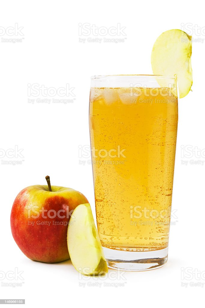 Sparkling apple juice stock photo