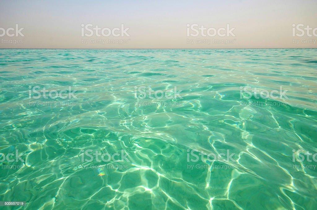 Sparkling blue ocean surface stock photo