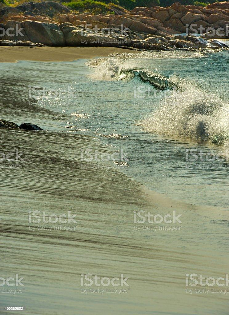 Sparkling breaking wave near Dunsborough stock photo