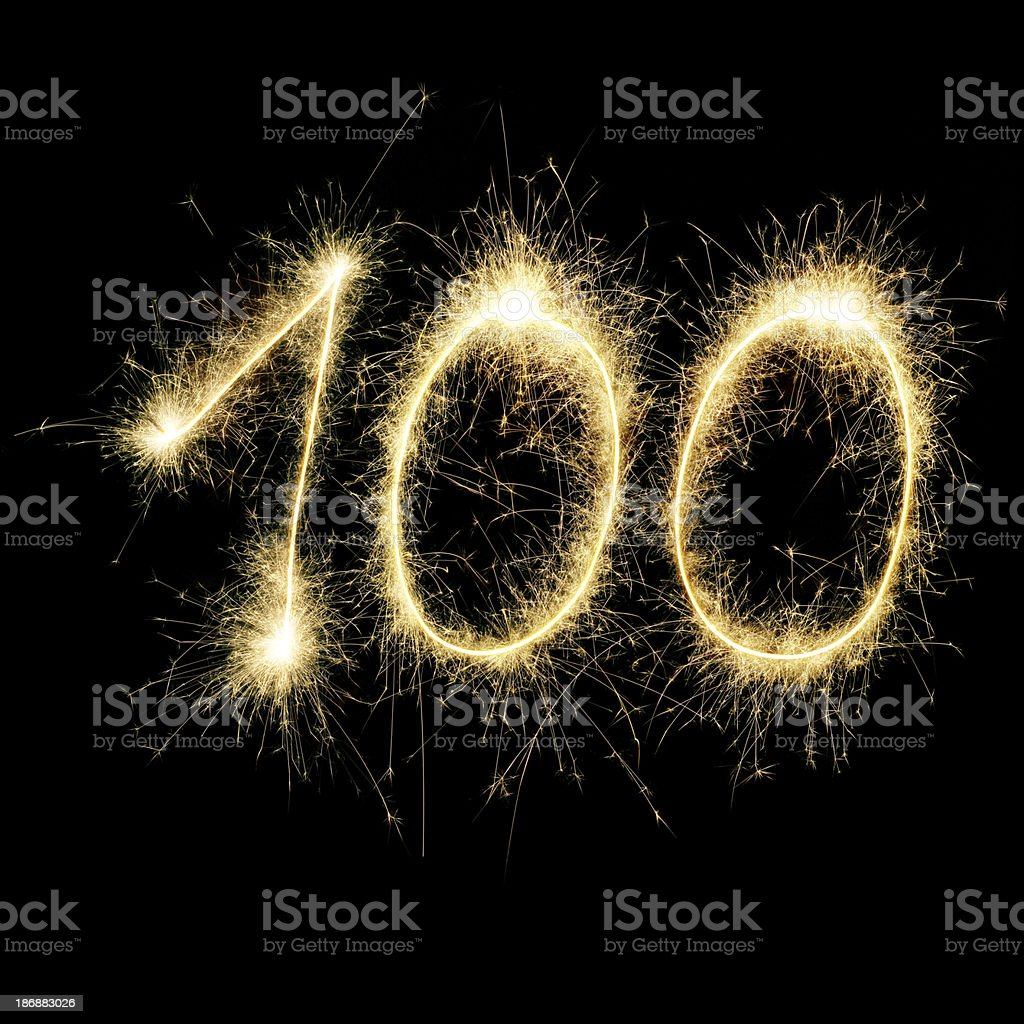 Sparkling Celebration Number Hundred royalty-free stock photo