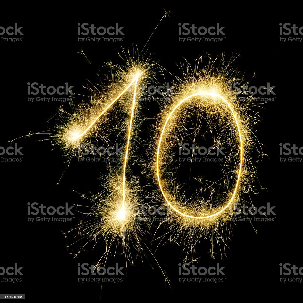 Sparkling Celebration Number Ten royalty-free stock photo