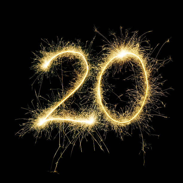 sparkling celebration number twenty - number 20 stock photos and pictures