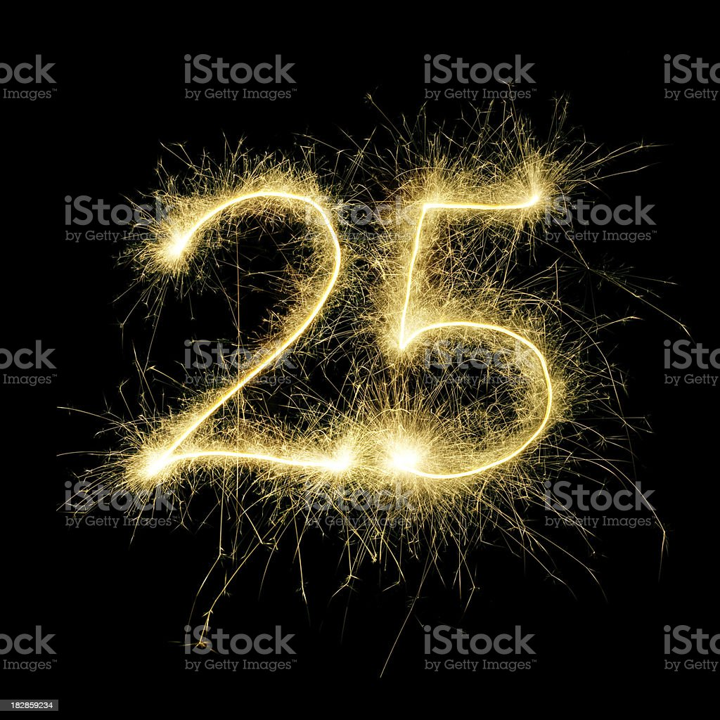 Sparkling Celebration Number Twenty-Five stock photo