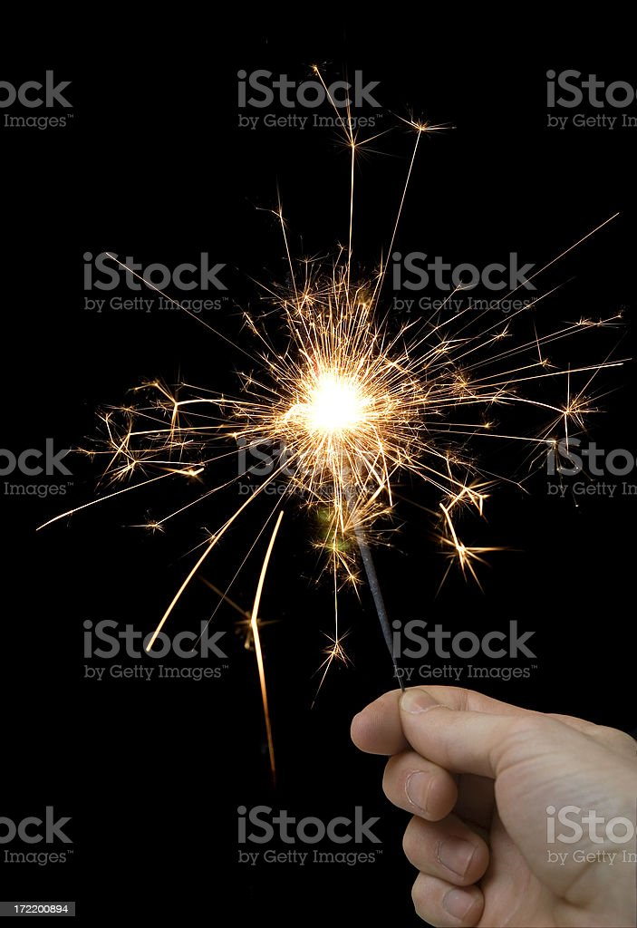 Sparkling celebration royalty-free stock photo