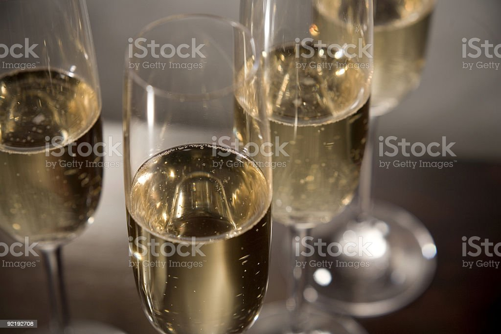 sparkling champagne close up royalty-free stock photo