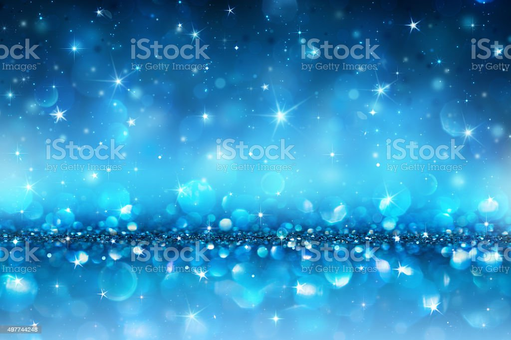 Sparkling Christmas Background - Blue Abstract stock photo