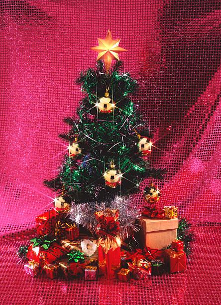 Sparkling Christmas tree stock photo