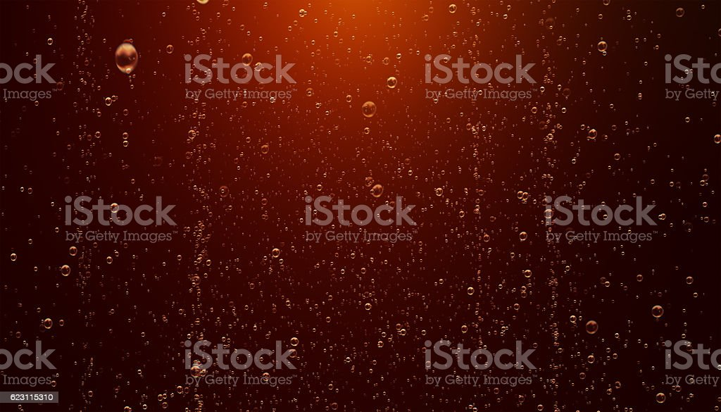 Sparkling Cola Bubbles stock photo