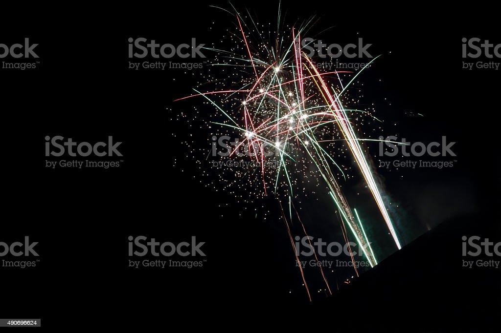 sparkling fireworks stock photo