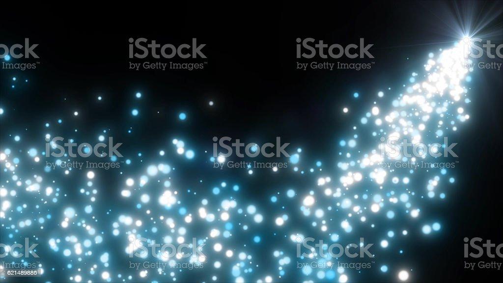 sparkling graphic particles Lizenzfreies stock-foto