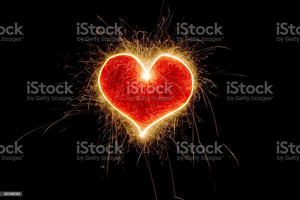 Sparkling Heart stock photo