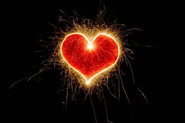 Sparkling Heart stock photo