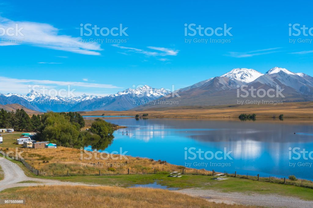 A Sparkling Lake Clearwater stock photo